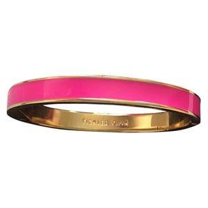 NWOT Kate Spade Pink & Gold Bangle Bracelet